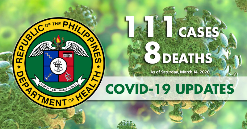 DOH: Confirmed COVID-19 cases soar to 111 with 8 deaths