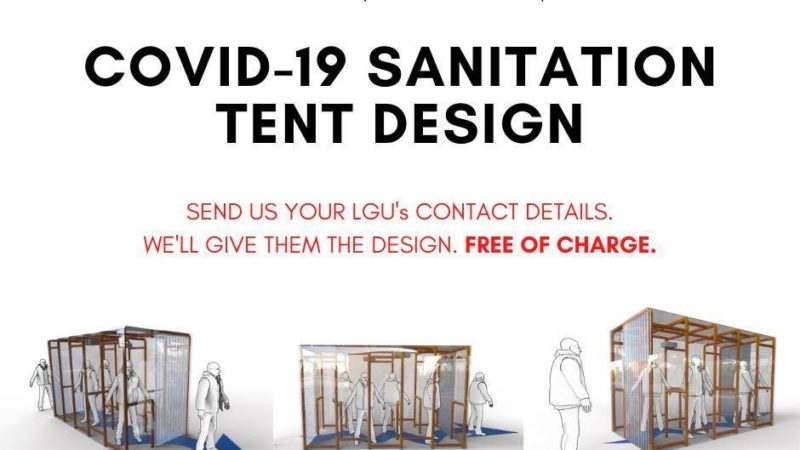 LOOK: UP team offers COVID-19 Sanitation Tent design for free
