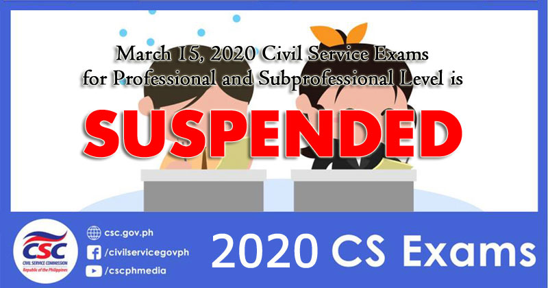 CSC suspends March 2020 Civil Service Exams