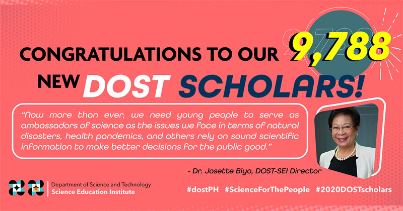 LIST: DOST-SEI Scholarship Qualifiers 2020