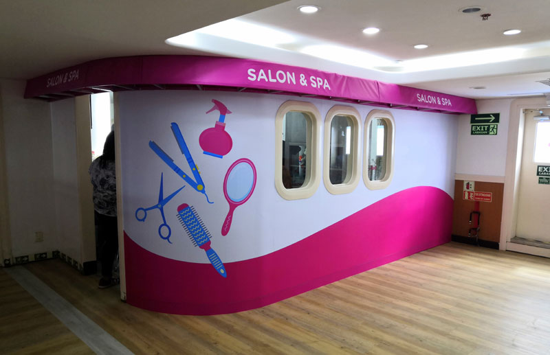 Salon and Spa at the 3rd Level of M/V St. Therese of the Child Jesus.