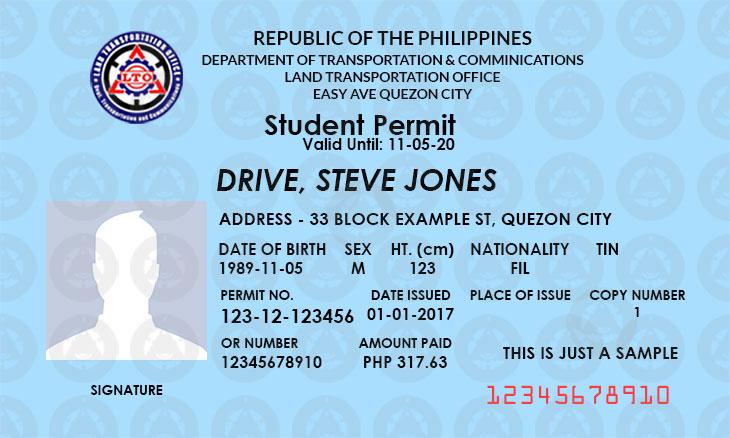 LTO student permit