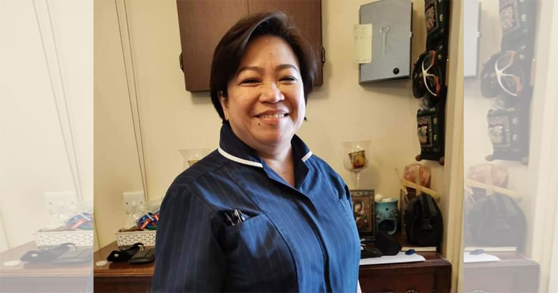 UK Nurse Amor Padilla Gatinao died of COVID-19.