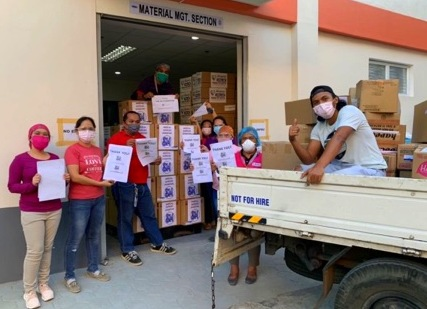 DAVAO - Medical supplies and PPEs are donated to Southern Philippines Medical Center on April 8 and 14, 2020.