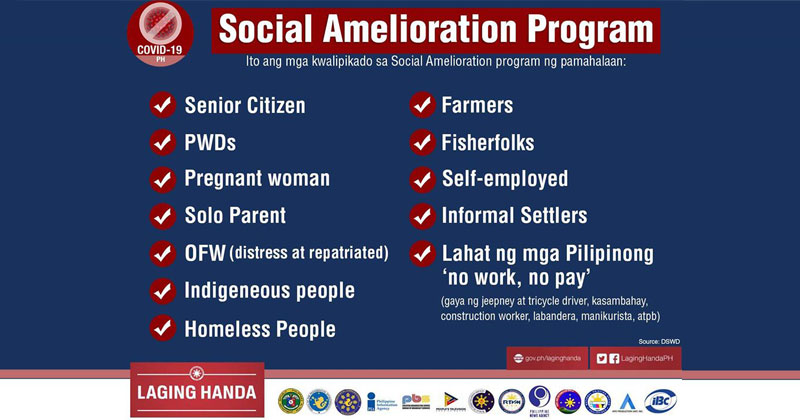 DSWD Social Amelioration Program beneficiaries