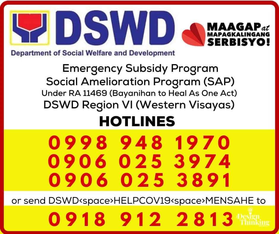 DSWD Western Visayas hotlines