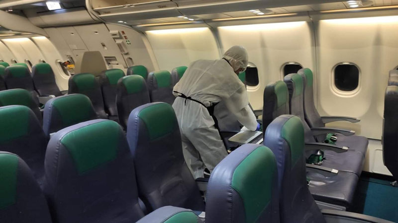 aircraft disinfection