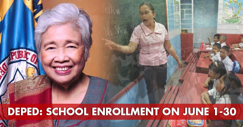 DepEd: School enrollment on June 1-30