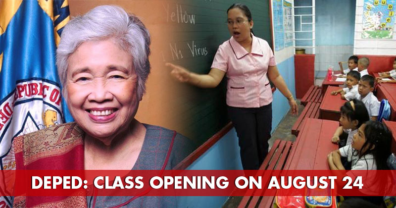 Deped announced that school opening will be on August 24, 2020.
