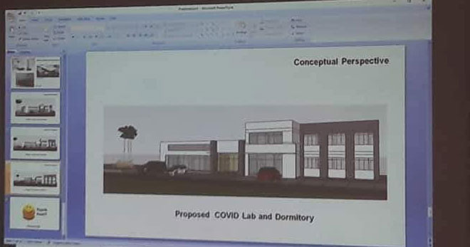 Conceptual perspective of Iloilo City Covid Lab and Dormitory.