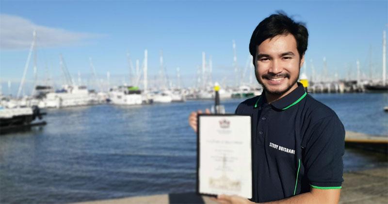 Jhoven Cabundocan, Ilonggo student ambassador of Brisbane, Australia.