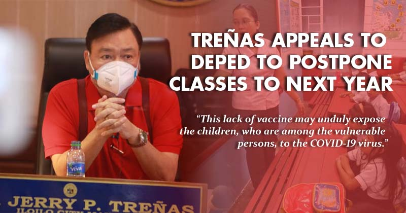 Treñas asks DepEd to postpone classes to next year