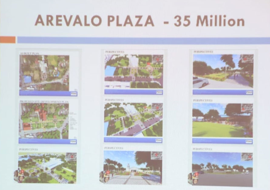 Iloilo City has requested the Tourism Infrastructure and Economic Zone Authority for funding for the rehabilitation plans for Arevalo Plaza.