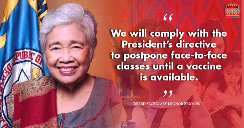 DepEd: No face-to-face classes until Covid-19 vaccine is available