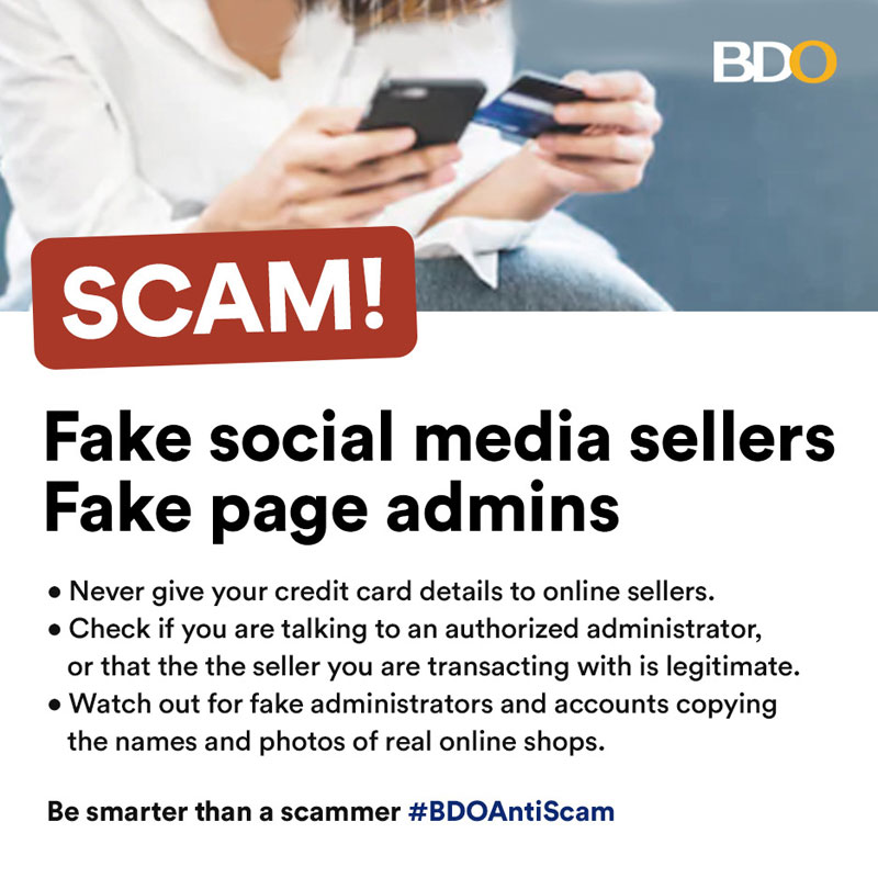 BDO campaign vs fake online sellers
