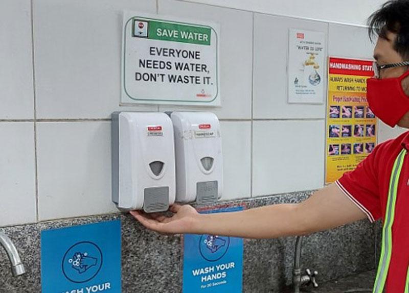 Handwashing at Coca-cola.