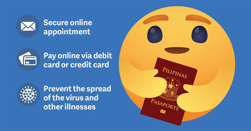 DFA online payment for passport applications.