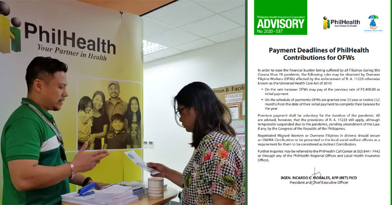 Philhealth Advisory on OFW payments.