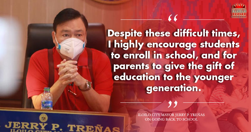 Mayor Jerry P. Treñas on going back to school.