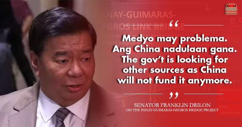 Drilon: China no longer interested in funding Panay-Guimaras-Negros bridge
