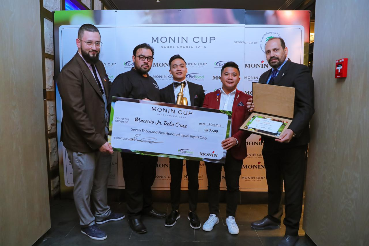 Macario dela Cruz Jr. wins the Monin Cup in Saudi Arabia, bringing home a trophy, cash award, and a privilege to join the most prestigious international bartending competition in France this year.