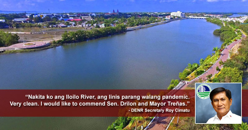 DENR Secretary Roy Cimatu all praises for Iloilo River.