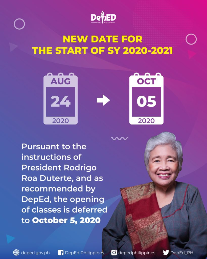 deped class opening