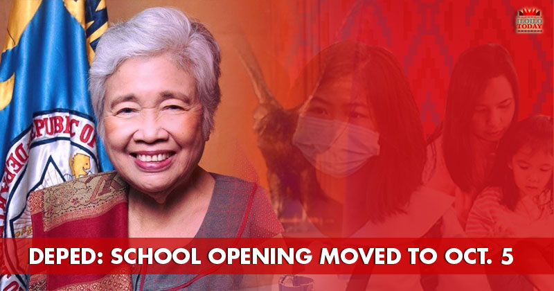 DepEd moves class opening to October 5