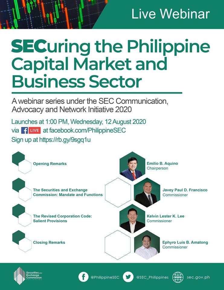 SEC Webinar for registered corporations.