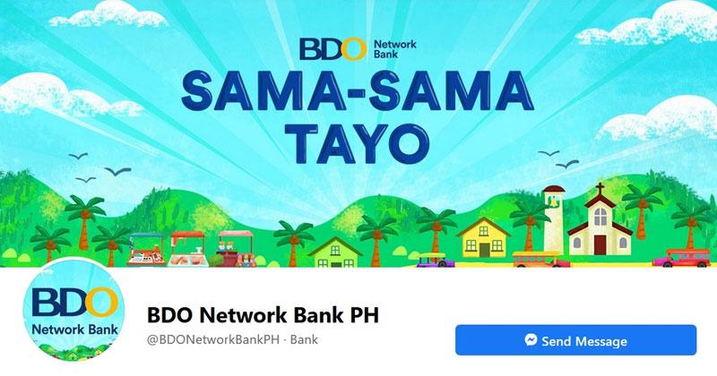 BDO Network Bank Facebook page