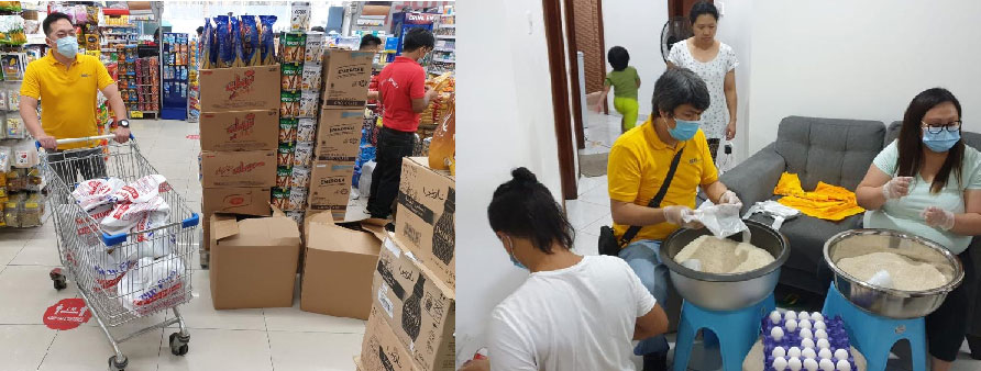 Big push for Project Ayuda. BDO Unibank, through its remittance arm BDO Remit, supports the free food donation drive of Feby Baguisa (far right in the first photo), an overseas Filipino in the United Arab Emirates (UAE) who lost her job during the pandemic but still found the time and dedication to help other unemployed individuals through this campaign dubbed as Project Ayuda. Aside from the financial assistance, BDO Remit representatives also helped in the shopping, packing, and distribution of food items to unemployed overseas Filipinos in UAE.