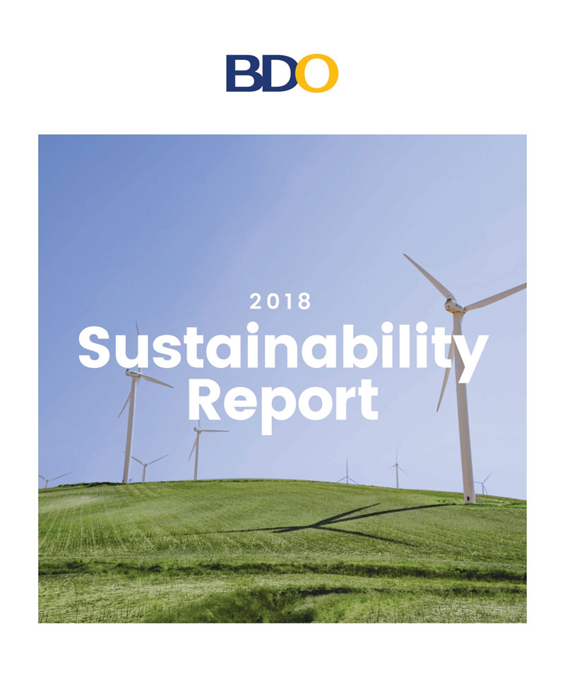 Partner for Social Progress. CSRWorks International recognized BDO Unibank, Inc.'s Sustainability Report with a Bronze Award in the First Time Reporter category of its 5th Asia Sustainability Reporting Awards (ASRA). BDO is the only awarded Philippine bank this year.