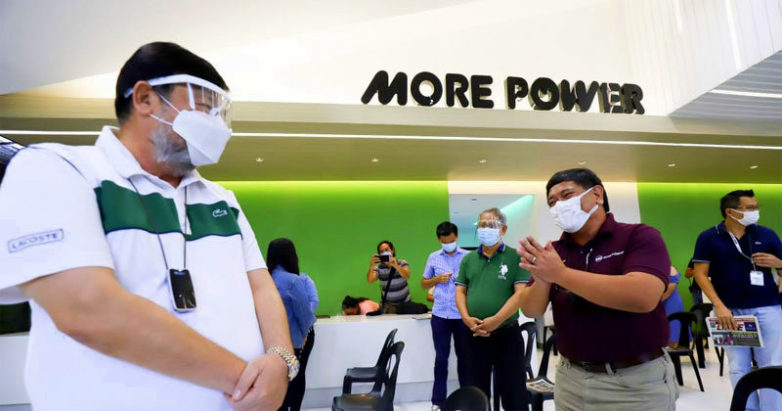 Mayor Jerry P. Trenas visits MORE Power office