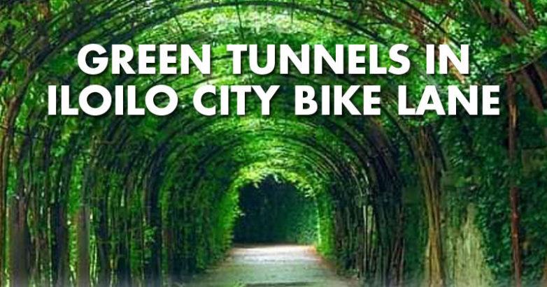 Green Tunnel Project in Iloilo City bike lanes.