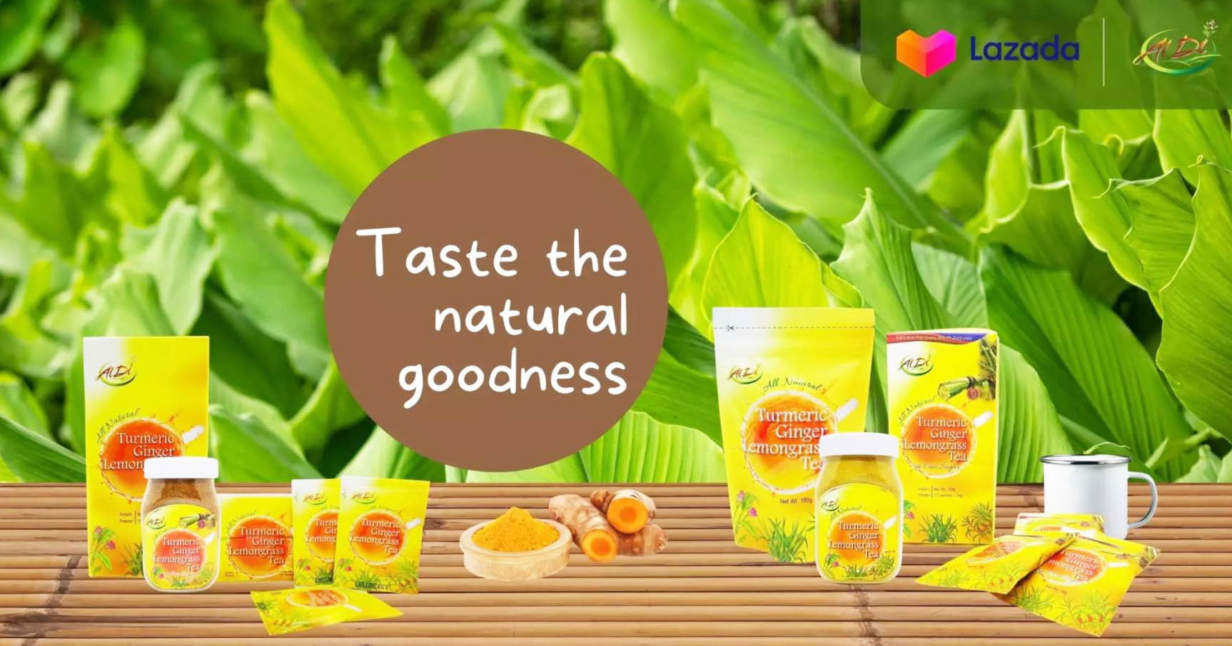 Al Di Foods turmeric tea is now in Lazada and Shopee