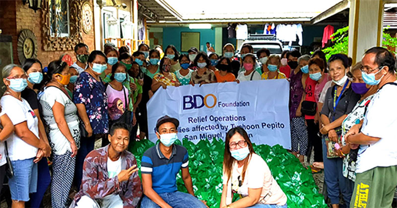 BDO Foundation aids areas hit by Typhoons Pepito and Quinta