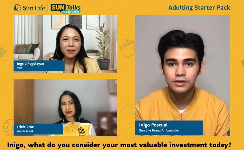 Inigo Pascual as Sun Life Brand Ambassador.
