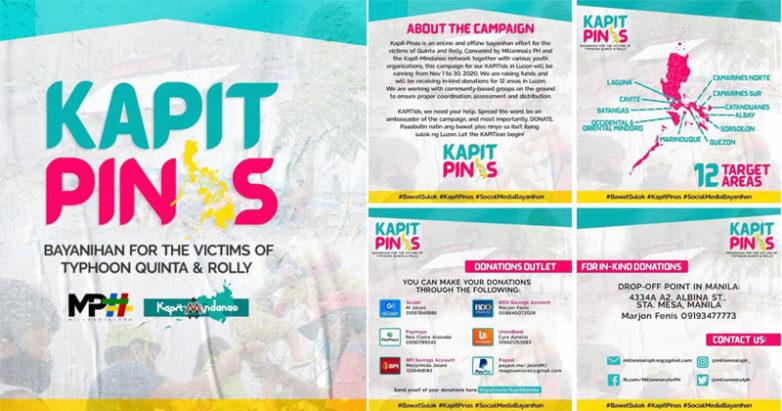 Kapit-Pinas fundraising for typhoon victims.
