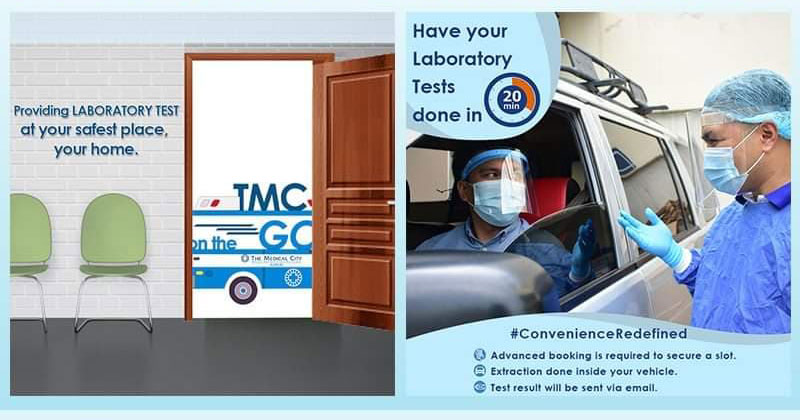 The Medical City Iloilo Drive Thru Laboratory and Home Services.