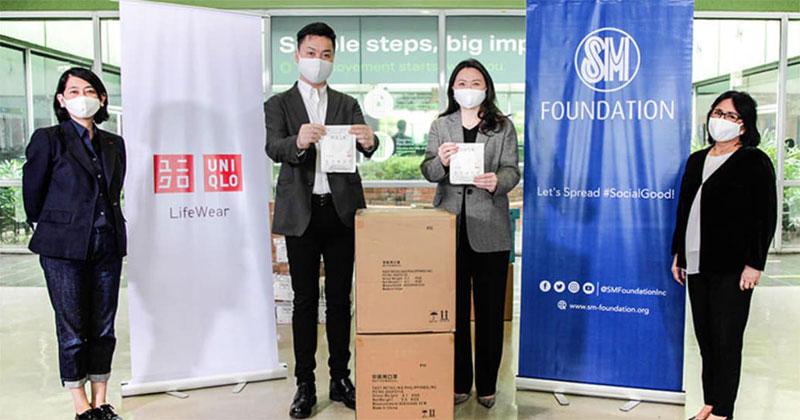 Uniqlo donates face masks