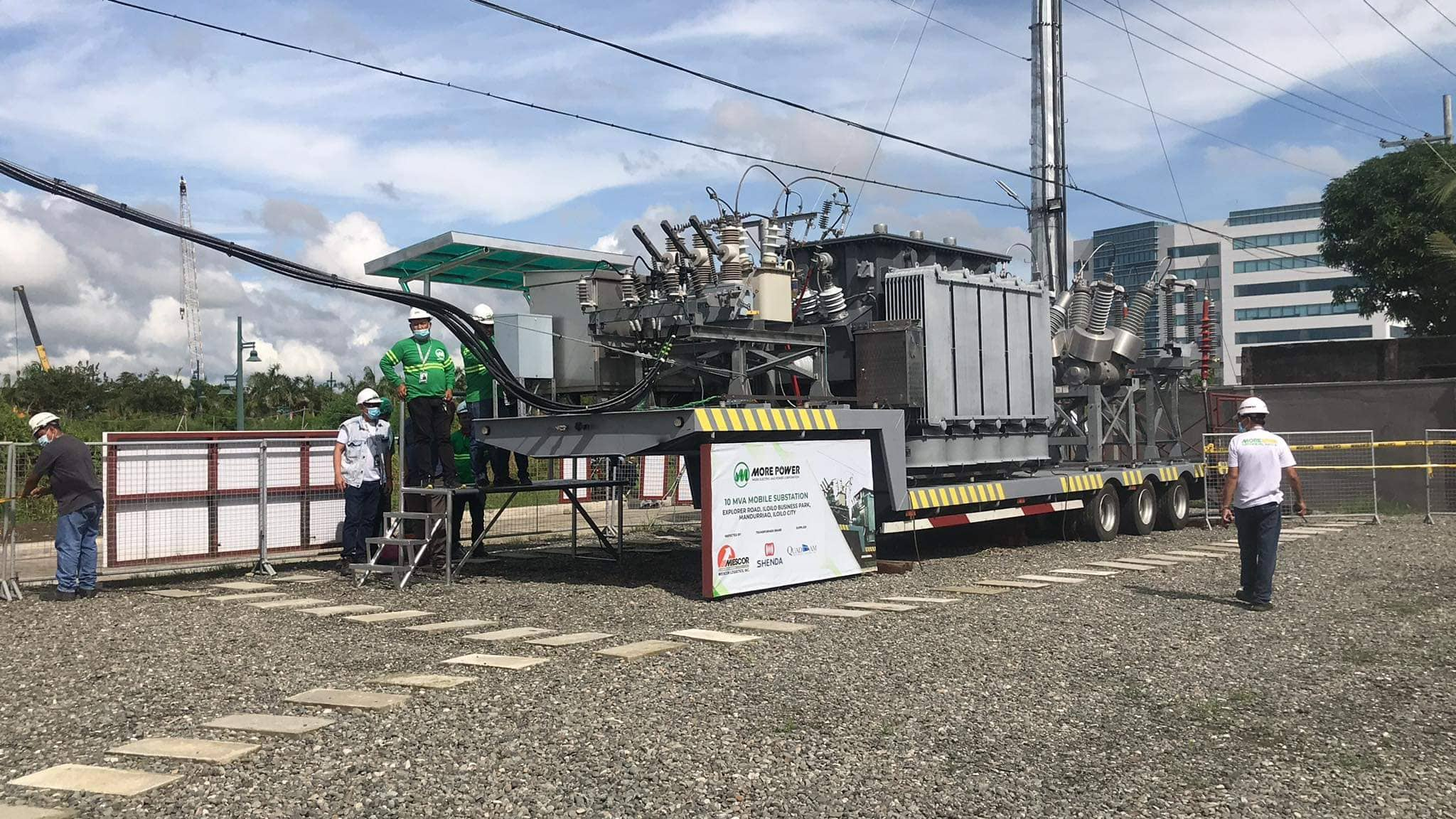 MORE Power 10 MVA mobile substation in Megaworld Iloilo Business Park.