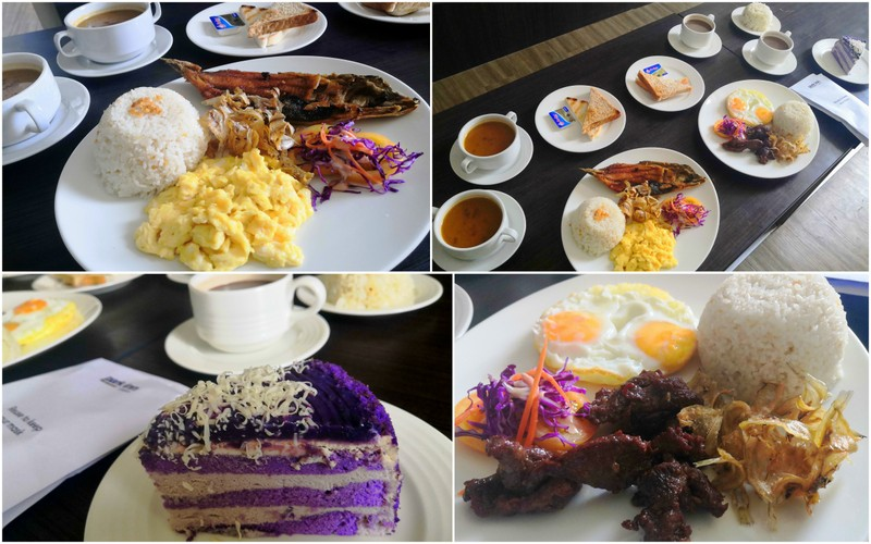 Complimentary breakfast. I also ordered my favorite Ube cake which is perfect for my coffee!