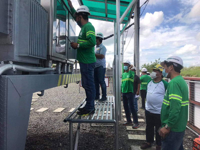 Roel Z. Castro, MORE Power President and CEO, personally checked the mobile substation as it was fully-energized Sunday, December 6, 2020.