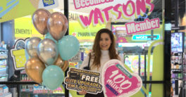 Rozanah, the 100-millionth member signed up last October at the Pavilion Watsons store in Malaysia.