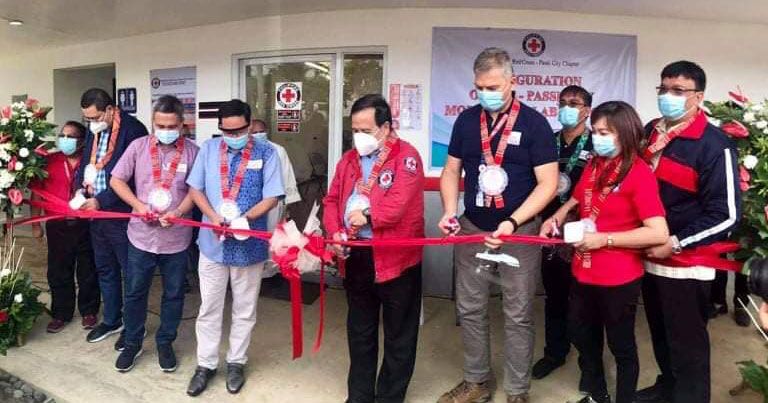 Ribbon cutting of PRC molecular laboratory in Passi City