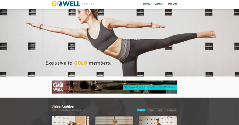 Sun Life GoWell Studio website