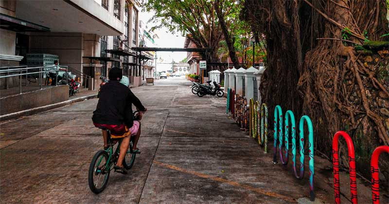 Colorful bike racks at the back of Iloilo City Hall. Photo by Jethro Importado.