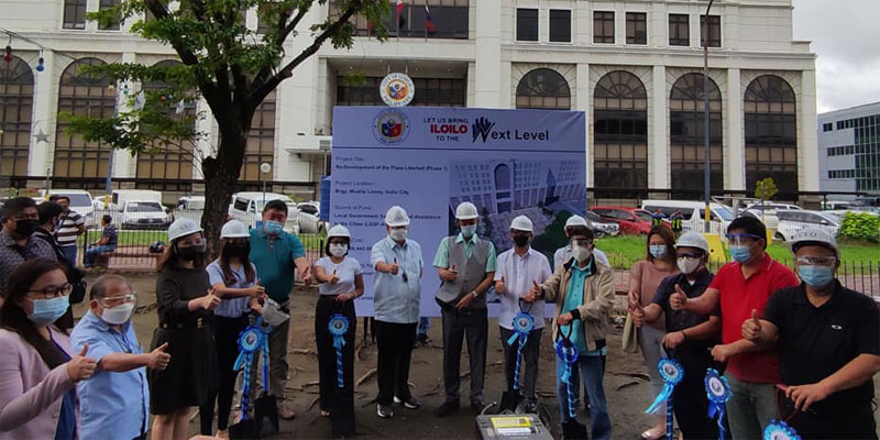 Groundbreaking of Plaza Libertad redevelopment project led by Mayor Jerry Trenas, Vice Mayor Jeffrey Ganzon, and City Councilors.