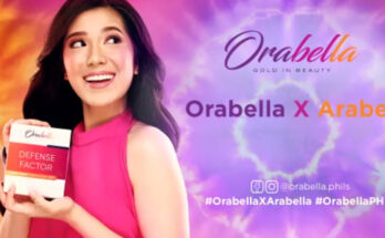 Arabella del Rosario new endorser of Orabella skincare.