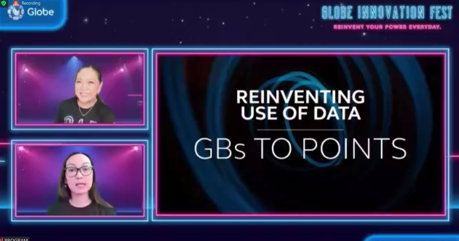 Unused Globe data may now be converted into Rewards points.